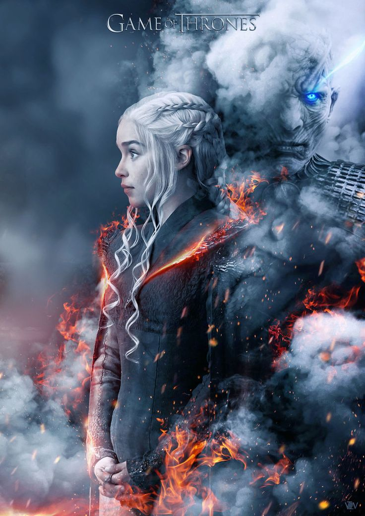 Daenerys Targaryen and The Night King of Game of Thrones