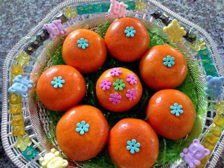Baby shower-Decorated oranges