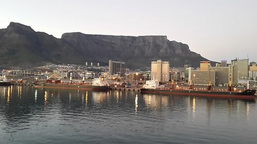 Cape Town Harbour - Table Mountain