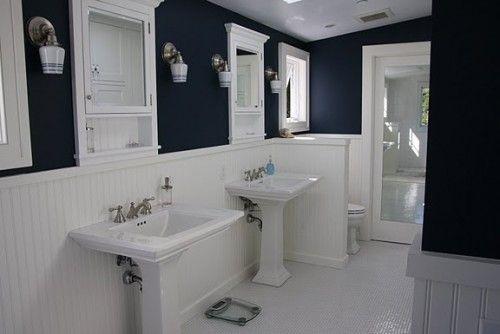 pedestal sinks and sconces