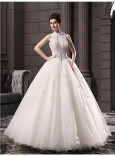 2016新品 襟付き 真珠飾りの綺麗目 豪華 結婚式ドレス 花嫁ドレス ウェディングドレス ロングドレス