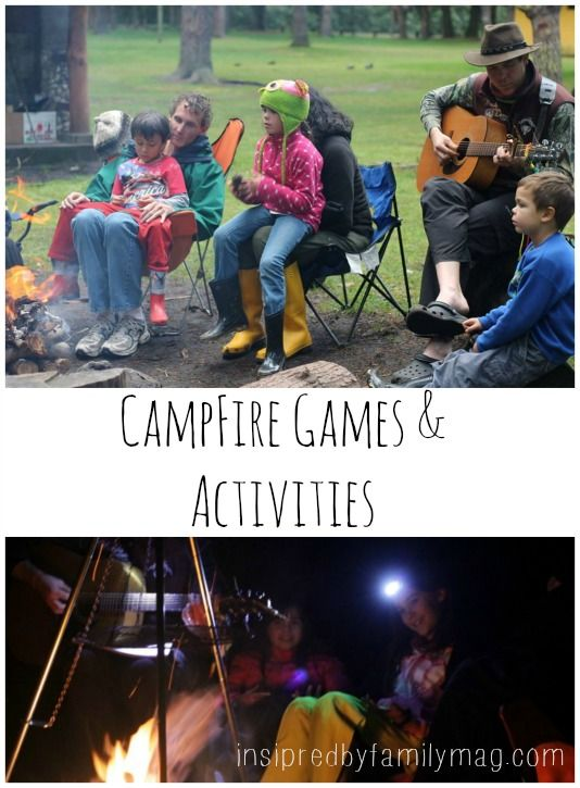 Campfire Games & Activities - lots of great ideas for all ages!