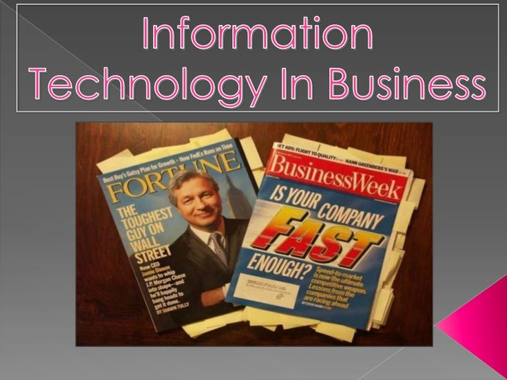 role of information technology in business informationstechnologie