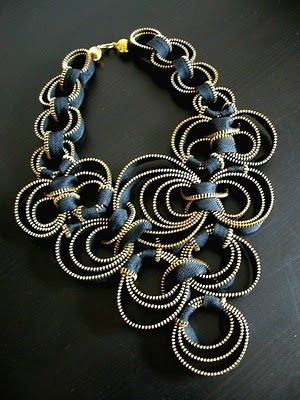 Mount Jewelry - How to Make and Sell, Step by Step, Ideas and More!: Necklaces made with Zipper - 2