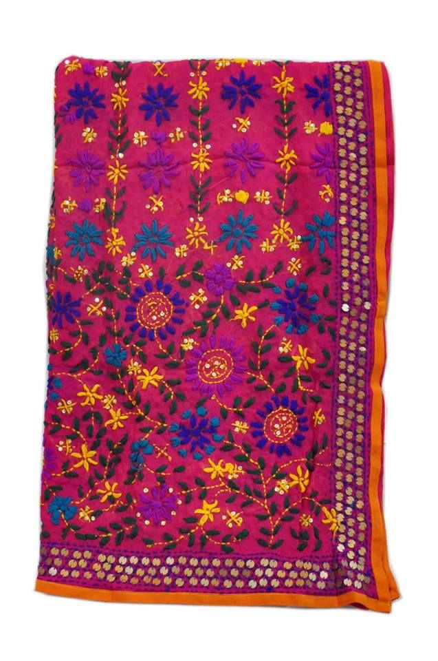 A rich and gorgeous phulkari dupatta