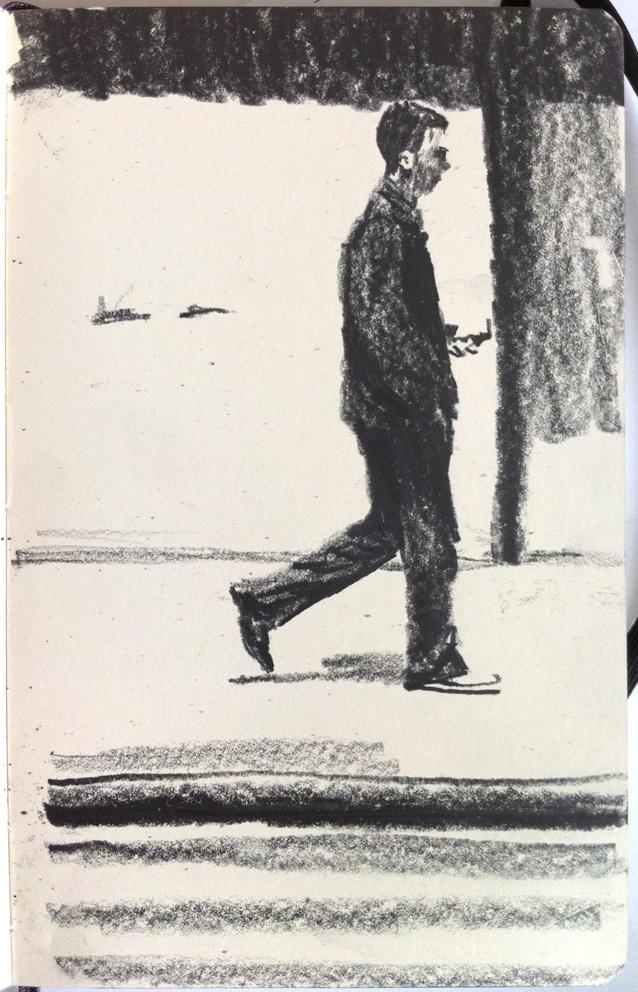 Moleskine J #036 graphite pencil drawing