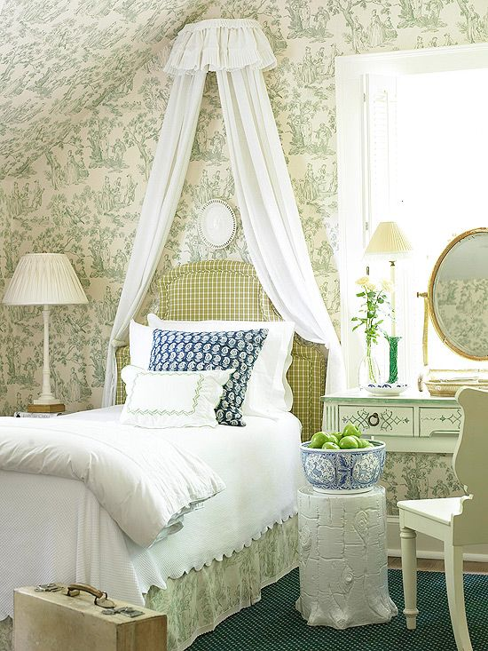 toile: Decor, Guest Room, Ideas, Dan Carithers, Dream, Canvas, Traditional Homes, Beautiful Bedrooms