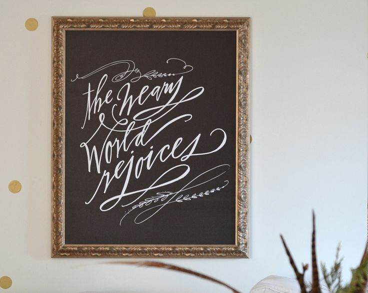 Weary World Rejoices Canvas