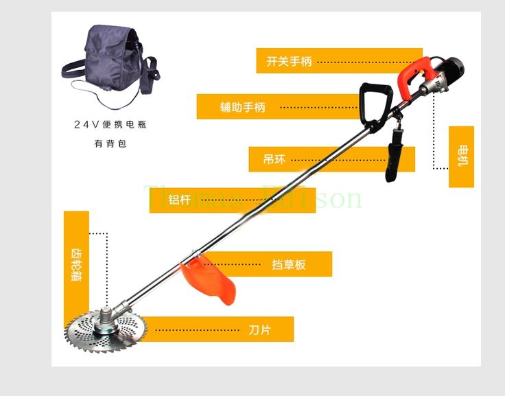 174.42$  Buy here - http://aliqak.worldwells.pw/go.php?t=32710500665 - 800w 24v Charging type electric mower backpack type household garden grass Trimmer