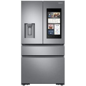 Samsung Family Hub 22.2-Cu Ft 4-Door Counter-Depth French Door Refrigerator Single Ice Maker (Stainless Steel) Energy St