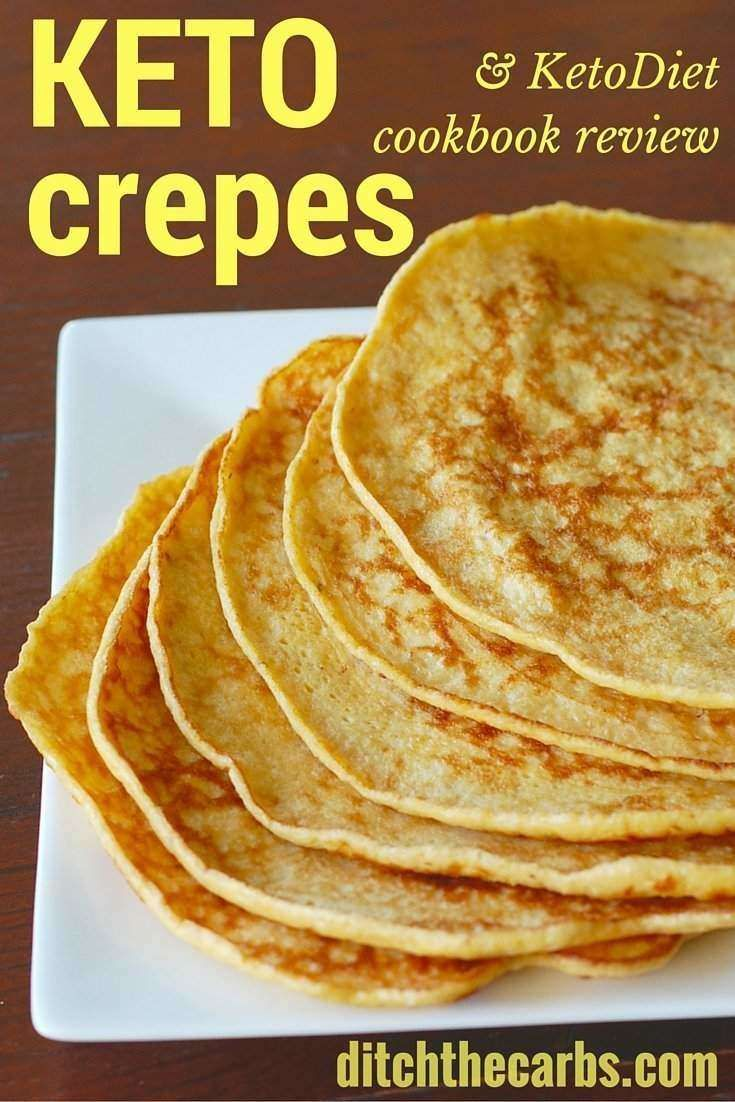 These are the most versatile keto crepes I have ever made. Take a look at the easy recipe and read my book review for Ketodiet cookbook. | ditchthecarbs.com