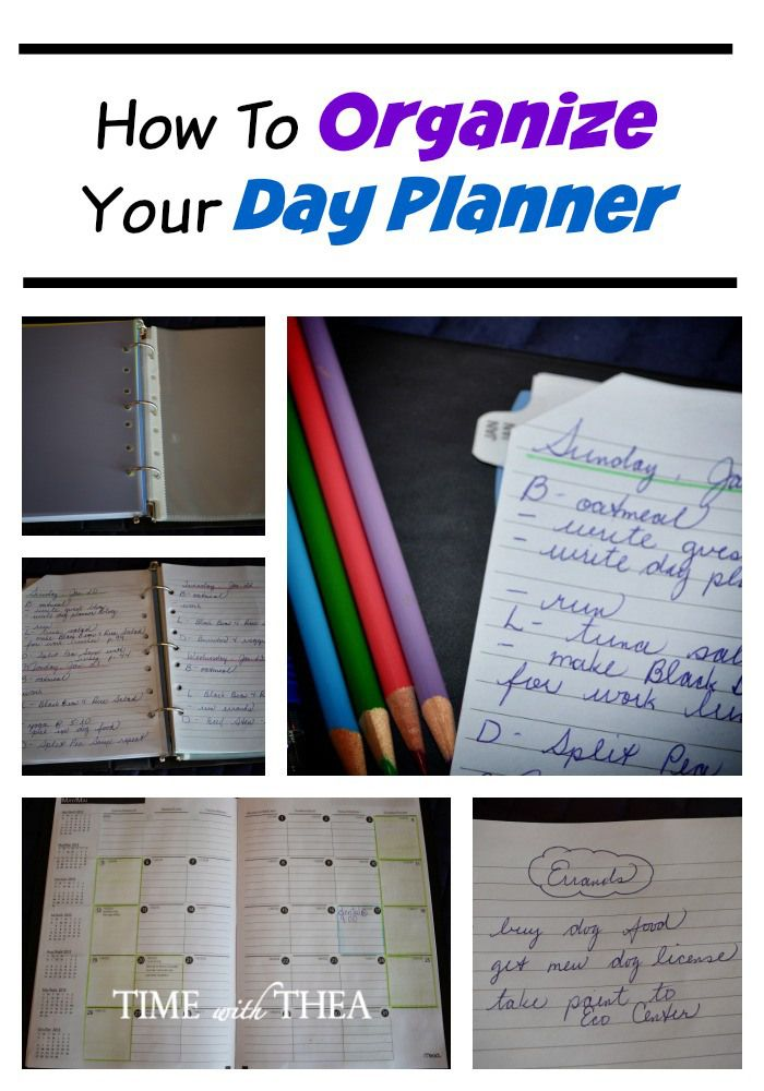 How To Organize Your Day Planner Day Planners Create