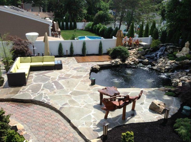 Koi Pond backyard  Water Gardens  Pinterest