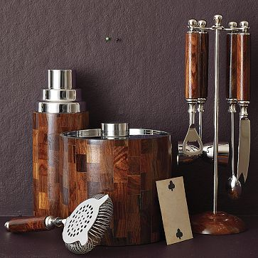 West Elm Wood Bar Tools Set