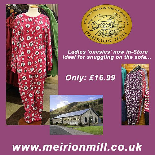 Meirion Mill and Shop - Onesies Facebook Post