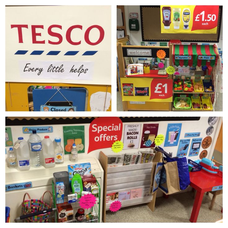 EYFS Tesco supermarket role play area