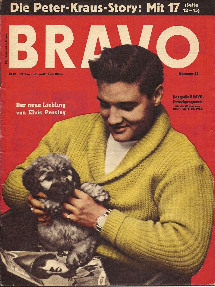 "The cover picture was taken in the lounge of the Hotel Grunewald in Bad Nauheim, Germany. Elvis bought the 7.5 week old (born September 9, 1958) male poodle puppy, named ""Cherry von der Mainkur"", from breeder Adolf Ochs in Fechenheim (north east of Frankfurt) for 450 DM (Deutsche Mark) on October 30, 1958 just before going on maneuver at Grafenwöhr. He gave the poodle to hotelier Otto Schmidt when he left the hotel in February 1959. Schmidt later gave Cherry to his cook, Frau Reinhardt."