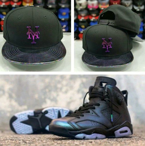 6ea3611827753 Matching New Era New York Mets Metal Badge 9Fifty snapback for Jordan 6 All  Star
