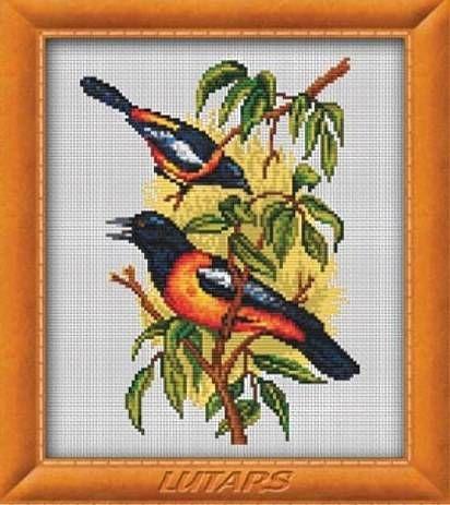 Набор для вышивания Lutars 136 Две птицы