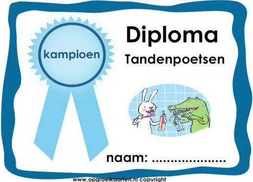 Diploma tandenpoetsen