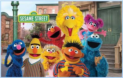 SESAMI STREET  The original characters called Muppet by Jim Henson, such as Elmo, BIG BIRD, a Cookie monster, Oscar, and Glover