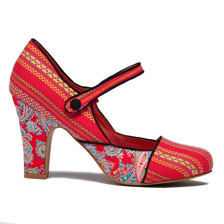 Tyler by I Love Billy. #ilovebilly #maryjaneshoes #heels #Under100 #patterns #redshoes #affordable #fashion