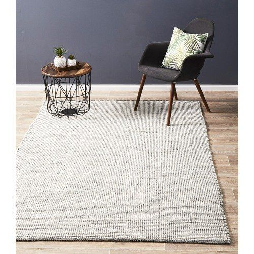 Black White Felted Wool Scandi Rug Rugs Turquoise Rug Yellow Rug