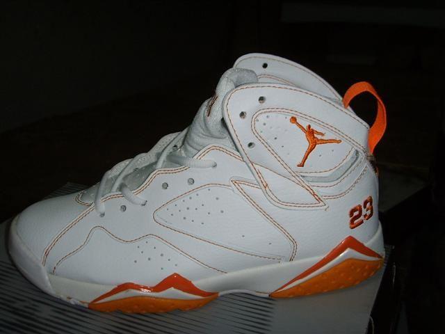 Air Jordan 7 Retro White Orange