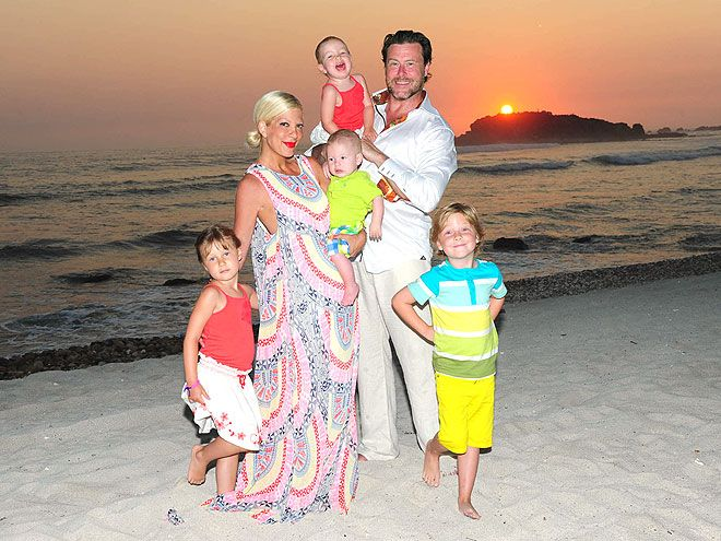 Tori Spelling. Love her, Him (Dean) not so much. Like most men he thinks his pecker is more important than the wife and kids. What, a shame.