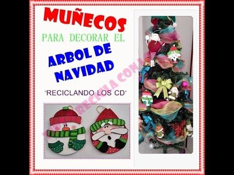 DIY.PAPA NOEL HECHO CON CD Y FOAMY- SANTA CLAUS WITH CD