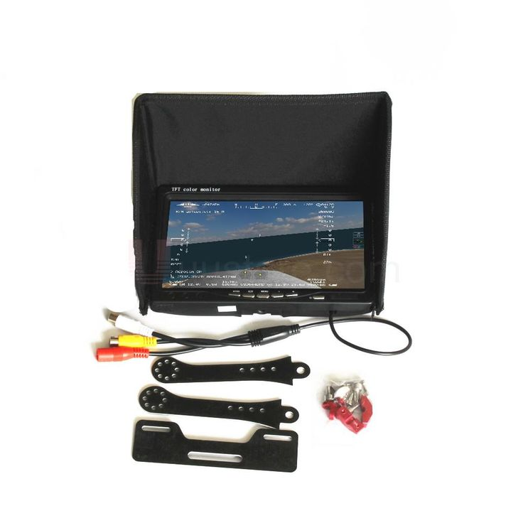 """RC FPV Monitor NO blue 7"""" LCD Color 1024x600 Video Screen 7 inch Sun hood for RC Multicopter Quadcopter Ground Station QAV250"""