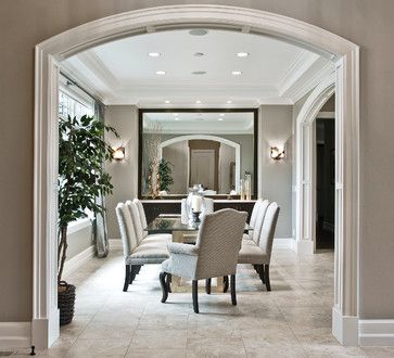 sw dorian gray transitional zen by design guild homes transitional dining room - Design Guild Homes