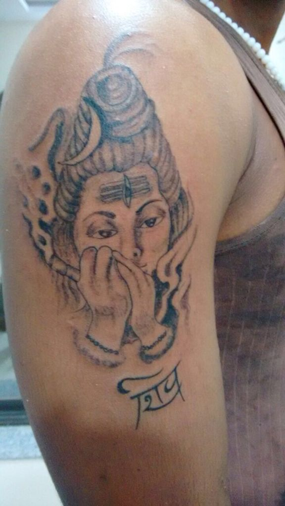 Best Baba Bhole Nath Smoking Lord Shiva Tattoos Art Stylish or Creative Designs & Illustration