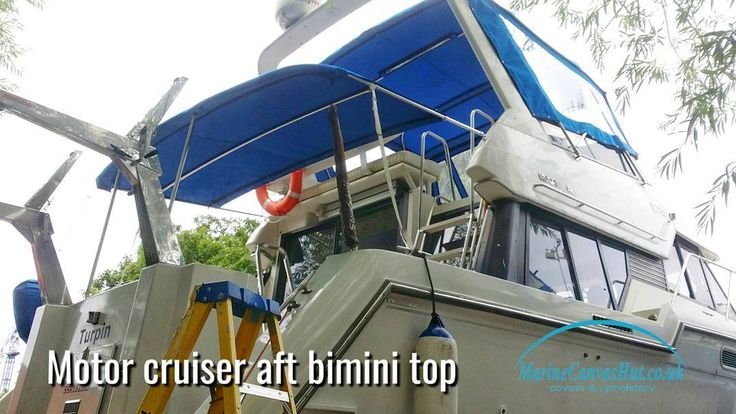 Doing some progress on the motor cruiser project. Aft bimini top finished.