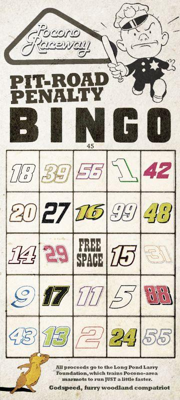Pocono Raceway's new game.