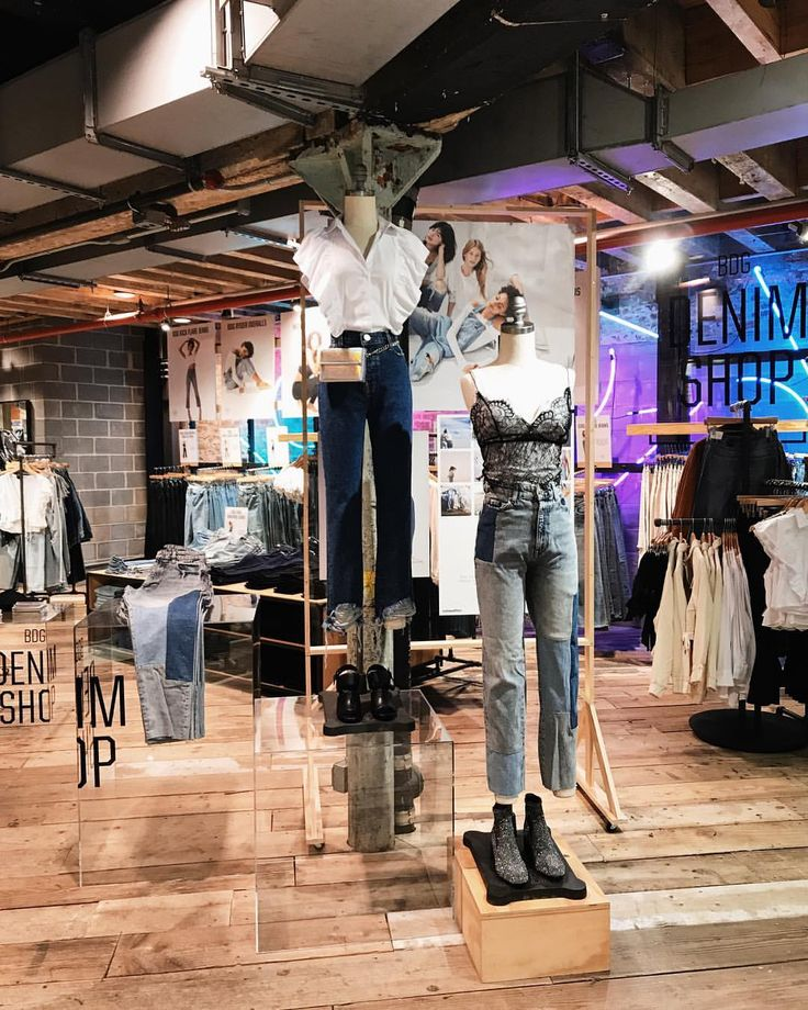 "URBAN OUTFITTERS, Space Ninety 8, New York, ""The Denim Shop for Fall/Autumn BDG Denim Collection"", pinned by Ton van der Veer"