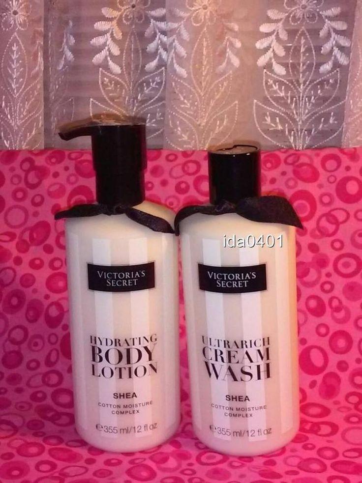 Victoria's Secret SHEA Ultrarich Cream Wash & Hydrating Body Lotion 12 oz #VictoriasSecret