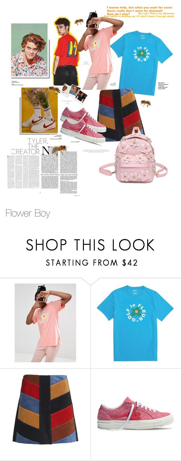 """""""Pothole - Tyler, the Creator"""" by jennarosedesign ❤ liked on Polyvore featuring Golf Wang, Converse, ODD FUTURE and M.i.h Jeans"""