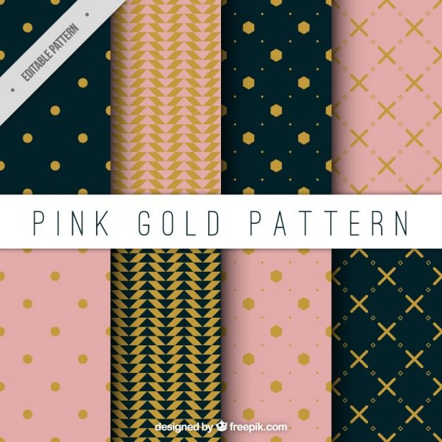 Elegant decorative patterns set Free Vector