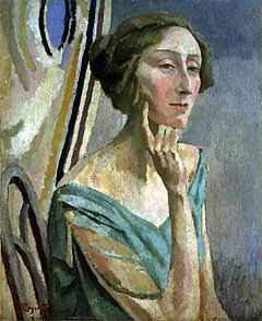 Lovely Portrait of Edith Sitwell by Roger Fry