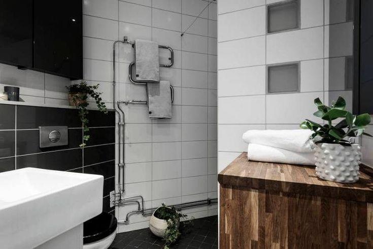 Эта уютная квартира площадью 64 квадратных метра расположена на тихой улочке Стокгольма, Швеция