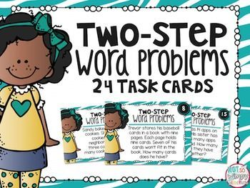 Practice those tricky two-step word problems with these fun task cards!