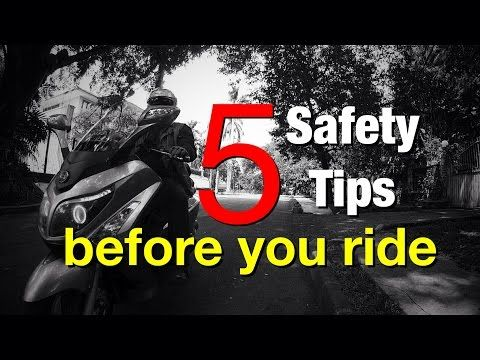 5 Safety Tips Before Riding Your Motorcycle - YouTube