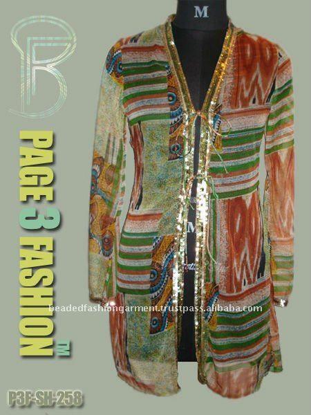 Chiffon di perline giacca/chiffon ricamato giacca produttori, fornitori - italian.alibaba.com