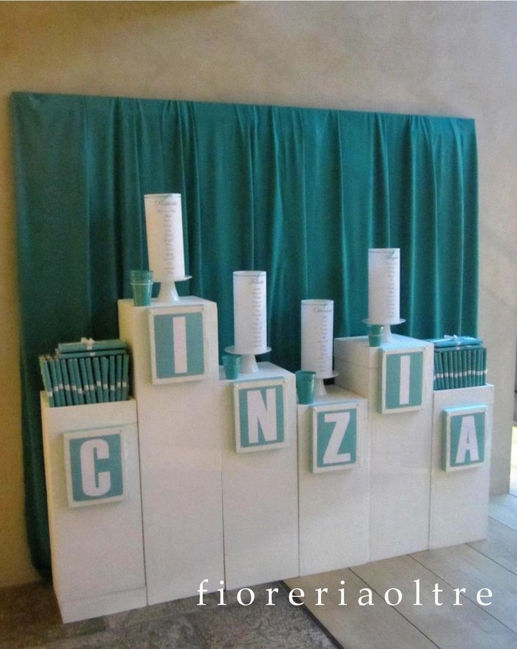 Fioreria Oltre/ Breakfast at Tiffany's themed party/ Paper lantern table seating…
