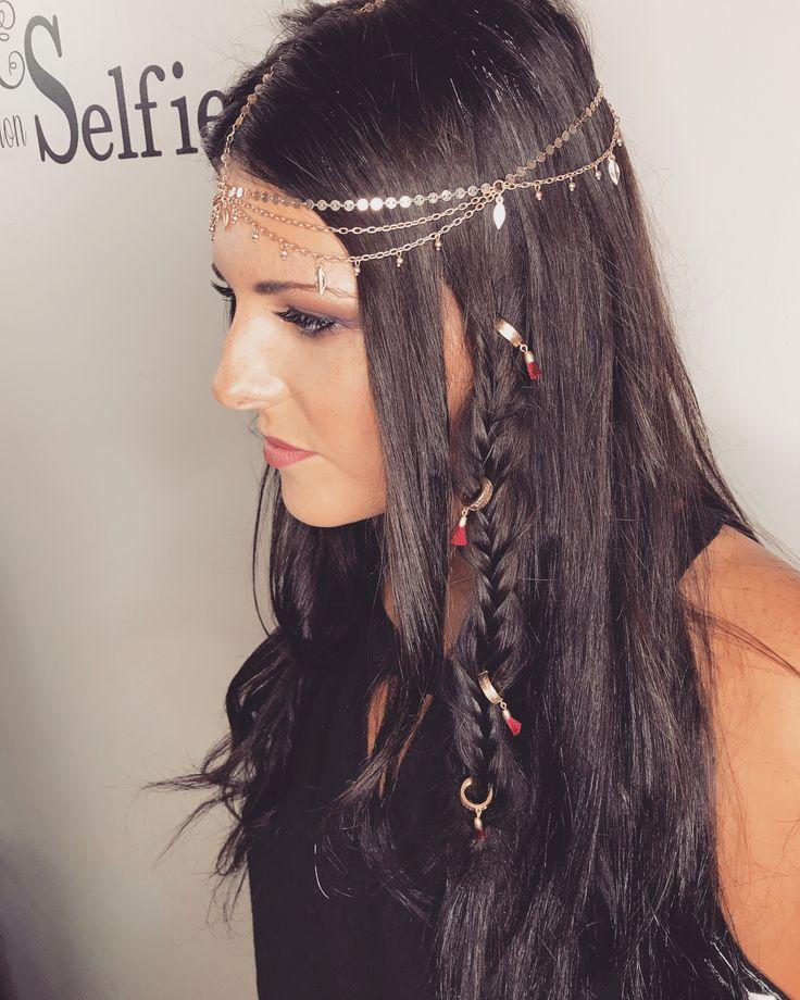 Chloe &Isabel  Hair and makeup by Kat Oropallo Katherine Elizabeth Salon.com #chloe& Isabel#katherineelizabethsalon#hair#braid#boho
