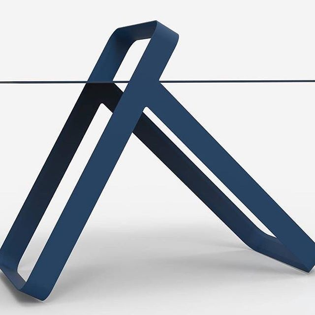 #Repost @100norway ・・・ The Kana side table from @martinhoegholsen's newly-launched design brand Høgh is made from powder coated blue steel.