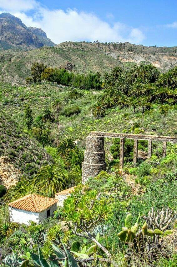 Beautiful valley of Fátaga on Gran Canaria