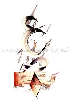 Calligraphie Arabe - La Nature - Prenez soin de moi, je vous le rendrai