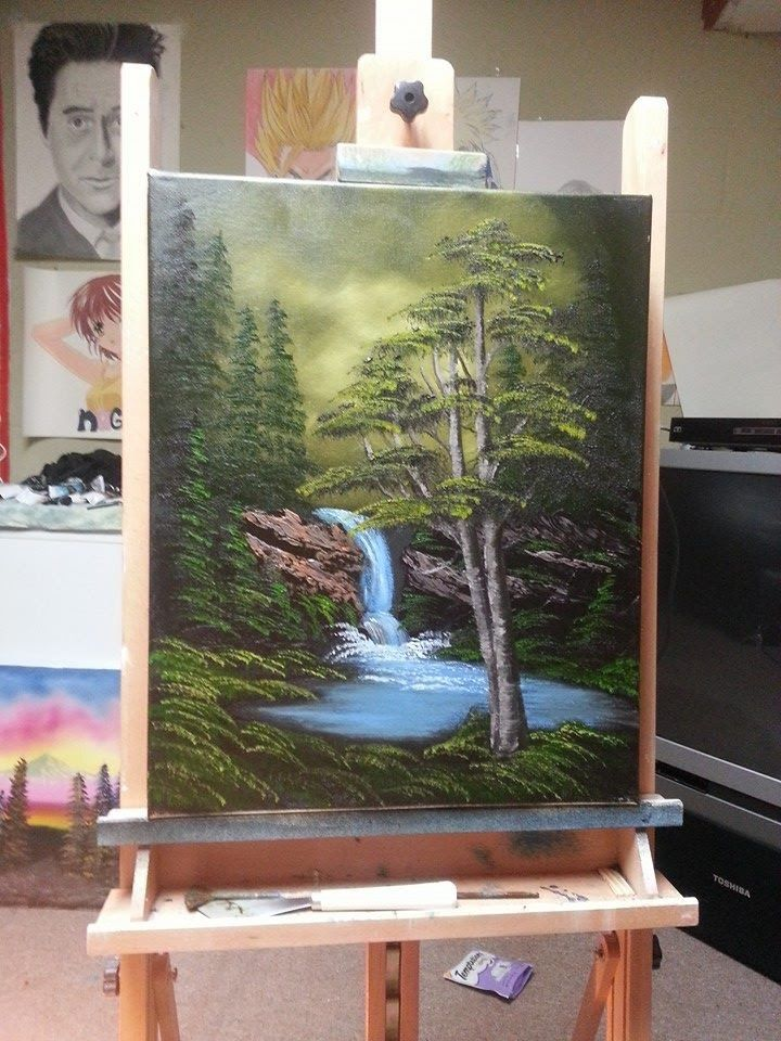 Easy oil painting lesson deep woods painting tutorial for Easy oil painting tutorial